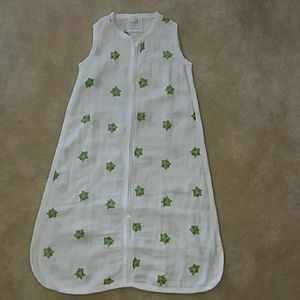 Aden & Anais Muslin Turtle Sleep Sack Small 0-6m